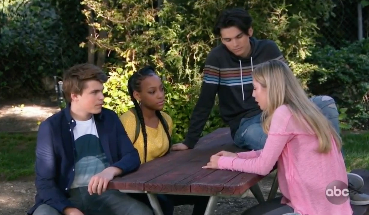 Joss and friends in the park on GH