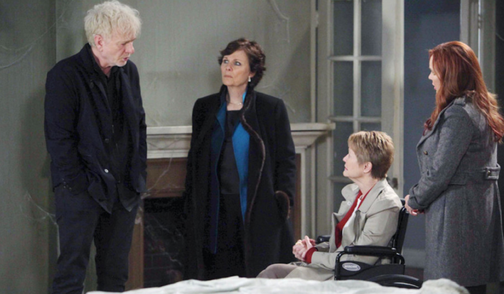 Luke, Tracy, Patricia, and Bobbie on General Hospital