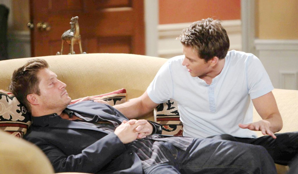 Michael and a drunk AJ on GH