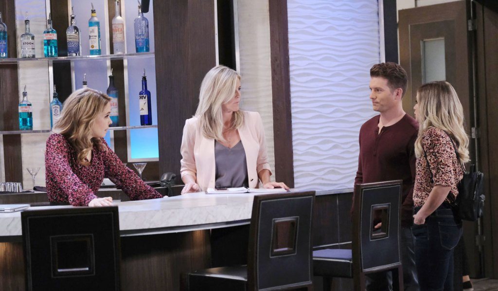 Dustin, Lulu, Olivia and Carly chat on GH