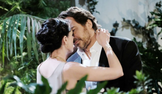 quinn and ridge kiss bb