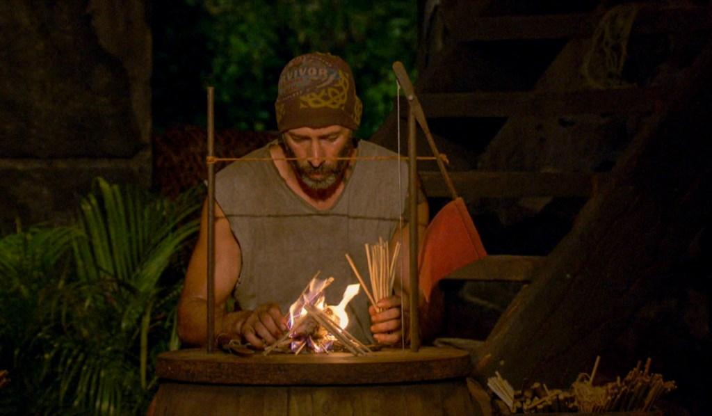 survivor Tony starts fire
