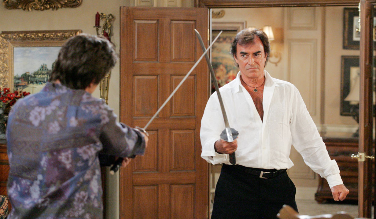 Andre and Tony sword fight on Days
