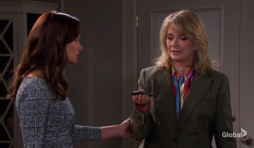 zoey and marlena listen to orpheus demands DAYS