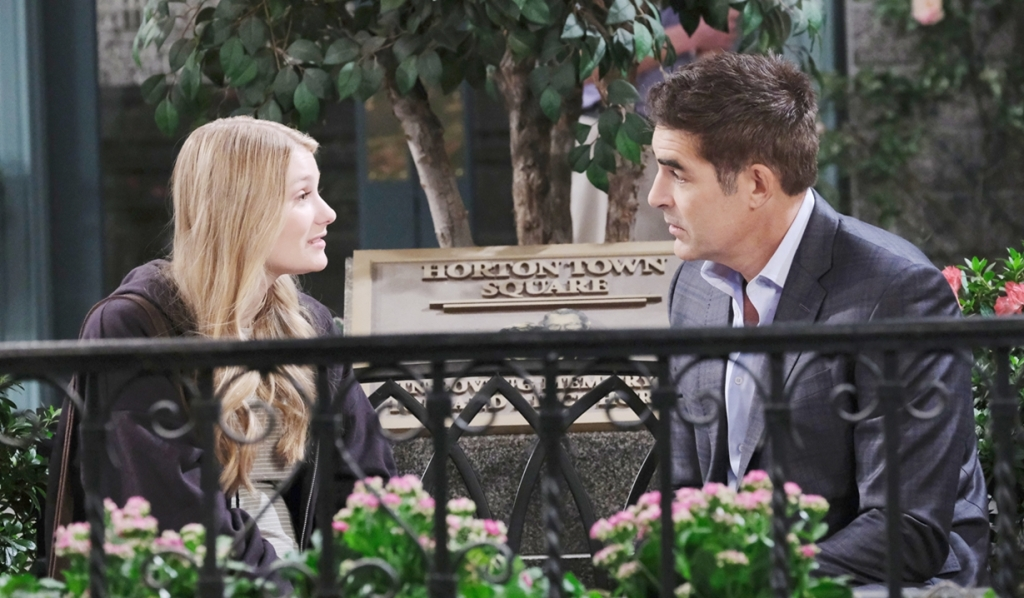 Allie, Rafe talk in square Days