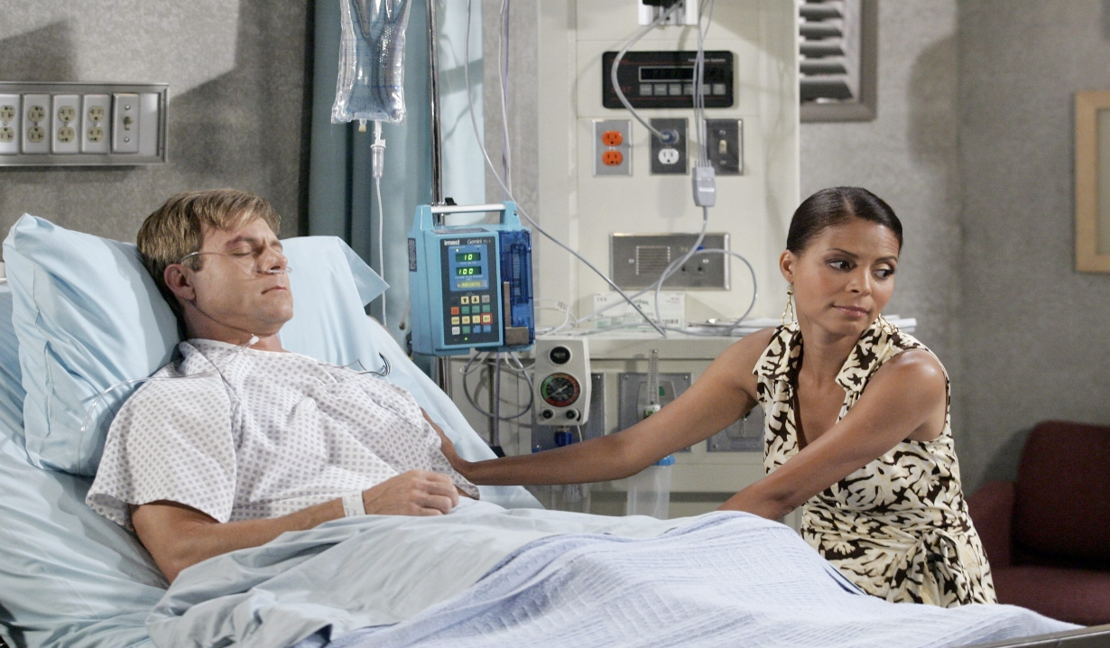 Lexie with Benjy in the hospital Days