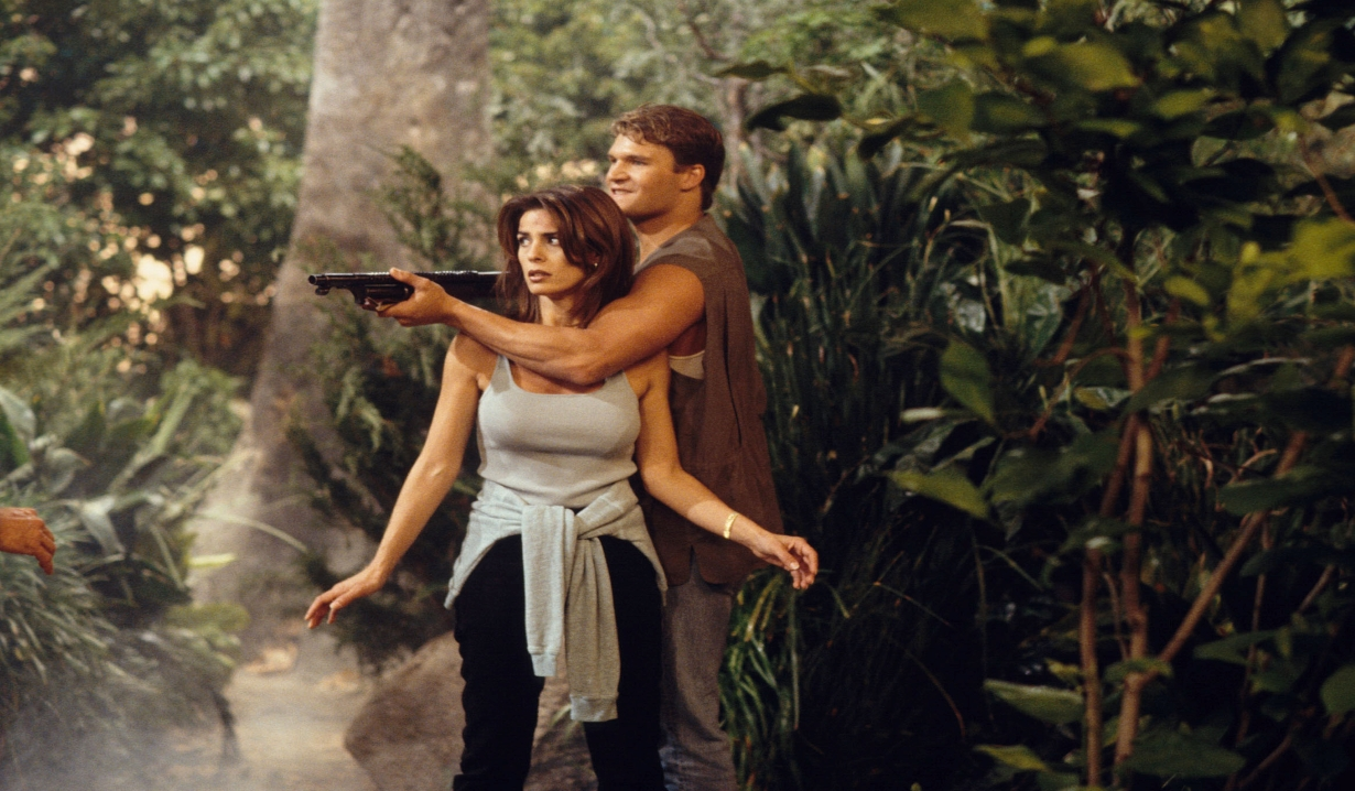 Bo and Hope battle in the jungle Days of our Lives