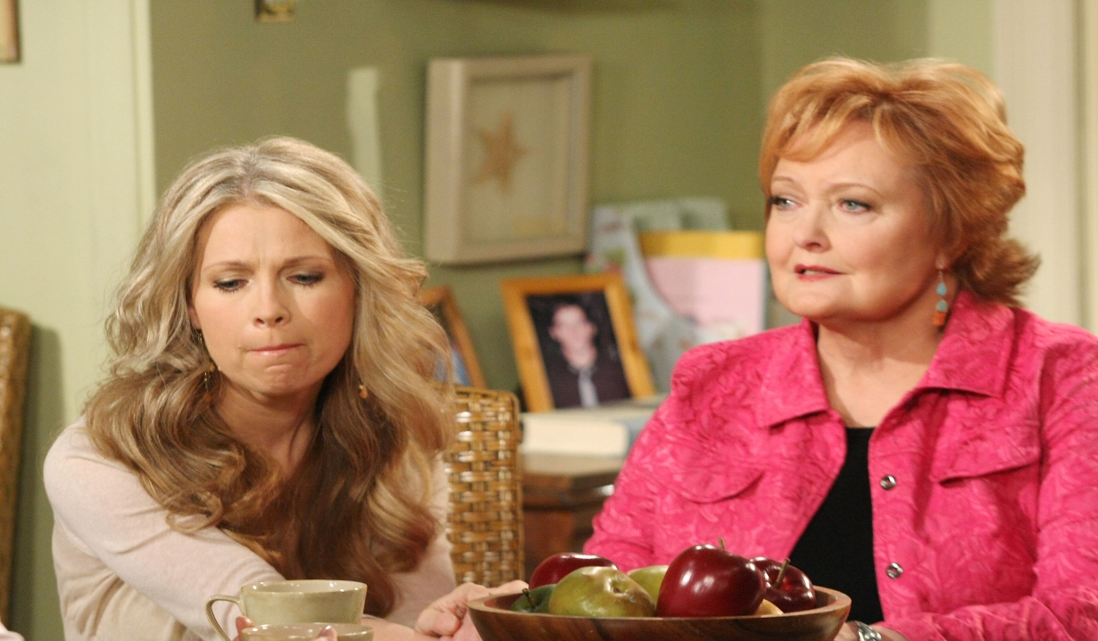 Marie and Jennifer reminisce in the kitchen Days of our Lives