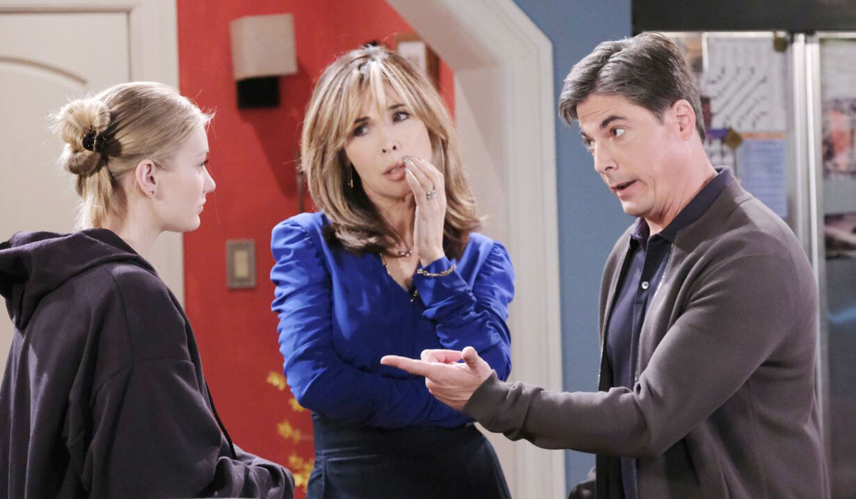 Lucas and Kate confront Allie on Days