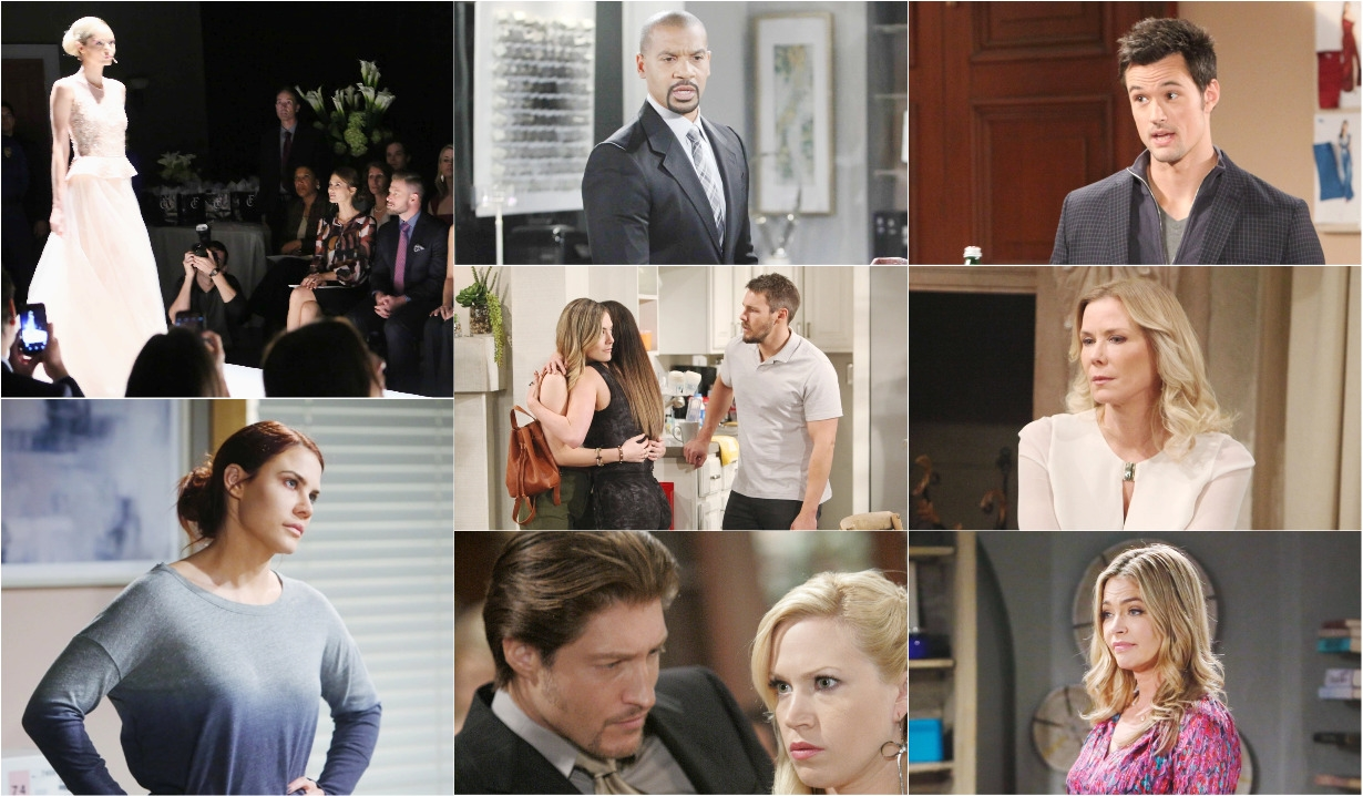 Rick, Shauna, Thomas, Brooke, Justin, Hope, Liam, Steffy, Sally, Deacon, Amber Rick collage B&B