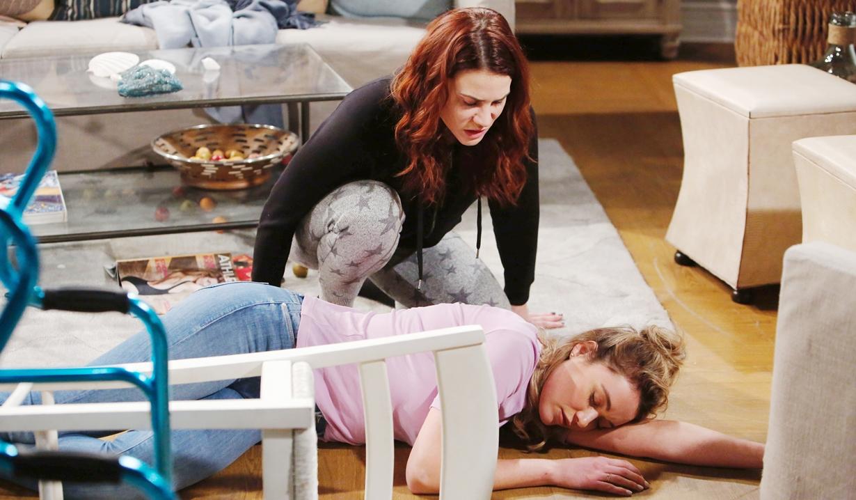 Sally, Flo unconscious B&B