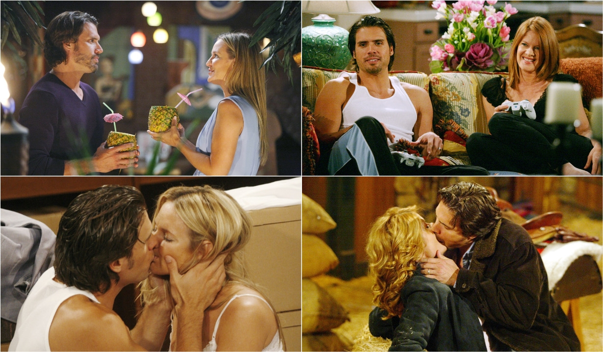 Sharon, Nick, Phyllis collage poll Y&R