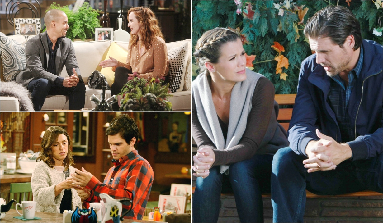 Young Restless couples friends collage Y&R