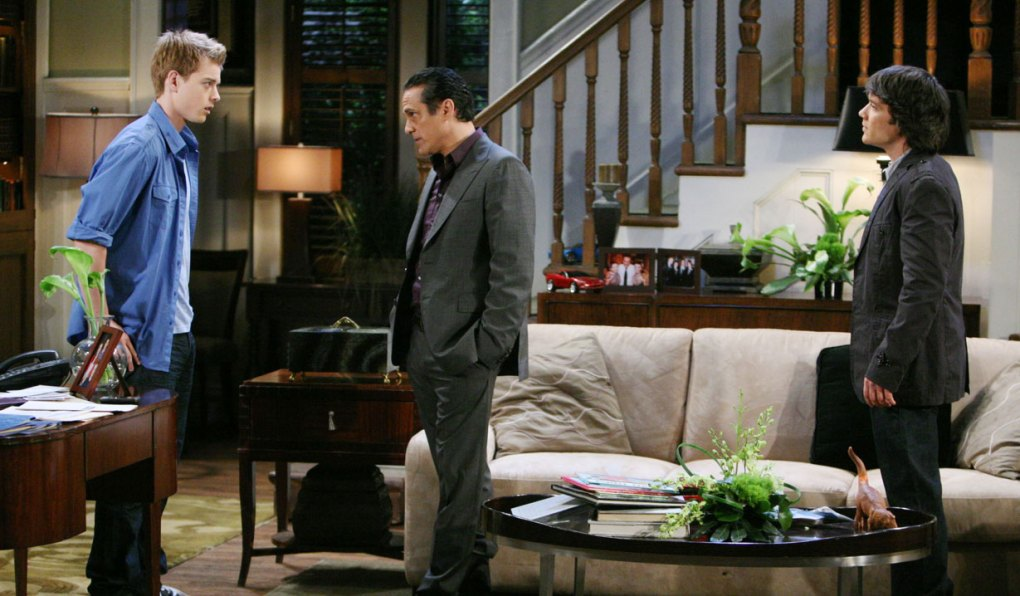 sonny talks to michael and dante GH