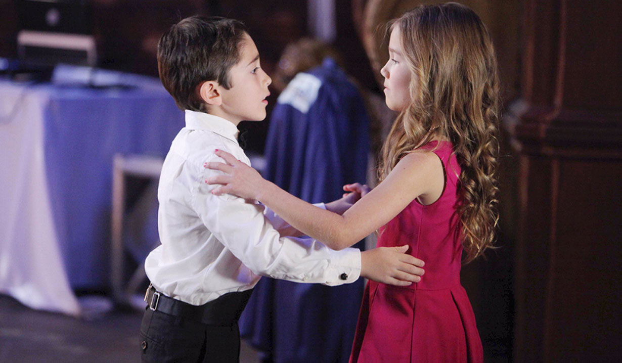 Emma and Spencer at his party on GH