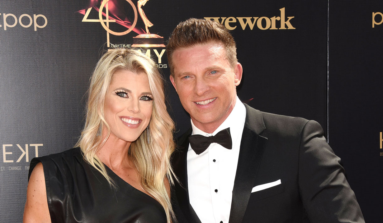 GH's Steve Burton and Sheree Gustin at the Daytime Emmys