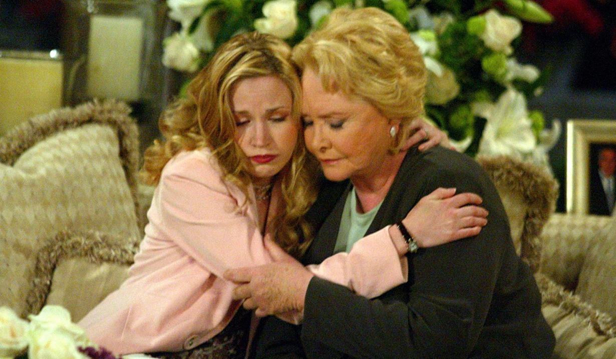 Amber, Stephanie hug B&B