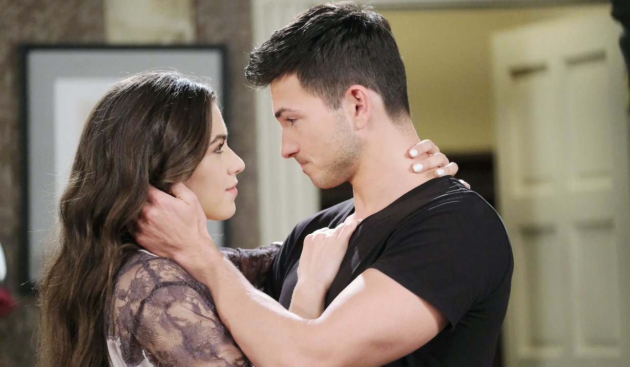 Ben and Ciara embrace on Days of Our Lives