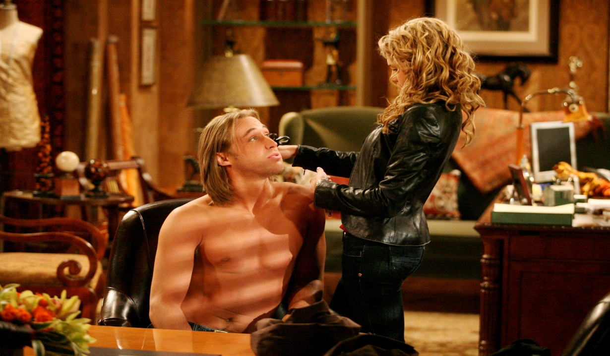 Kyle Lowder as Rick with Phoebe