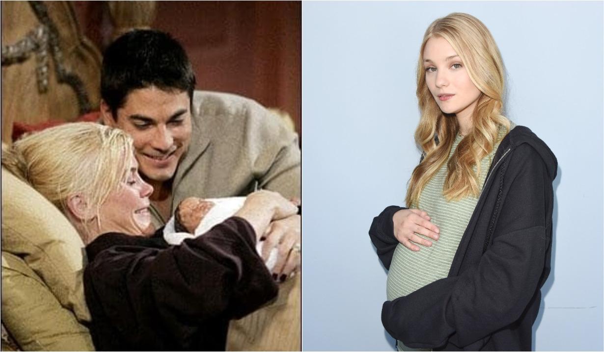 Sami, Lucas birth Allie pregnant collage Days