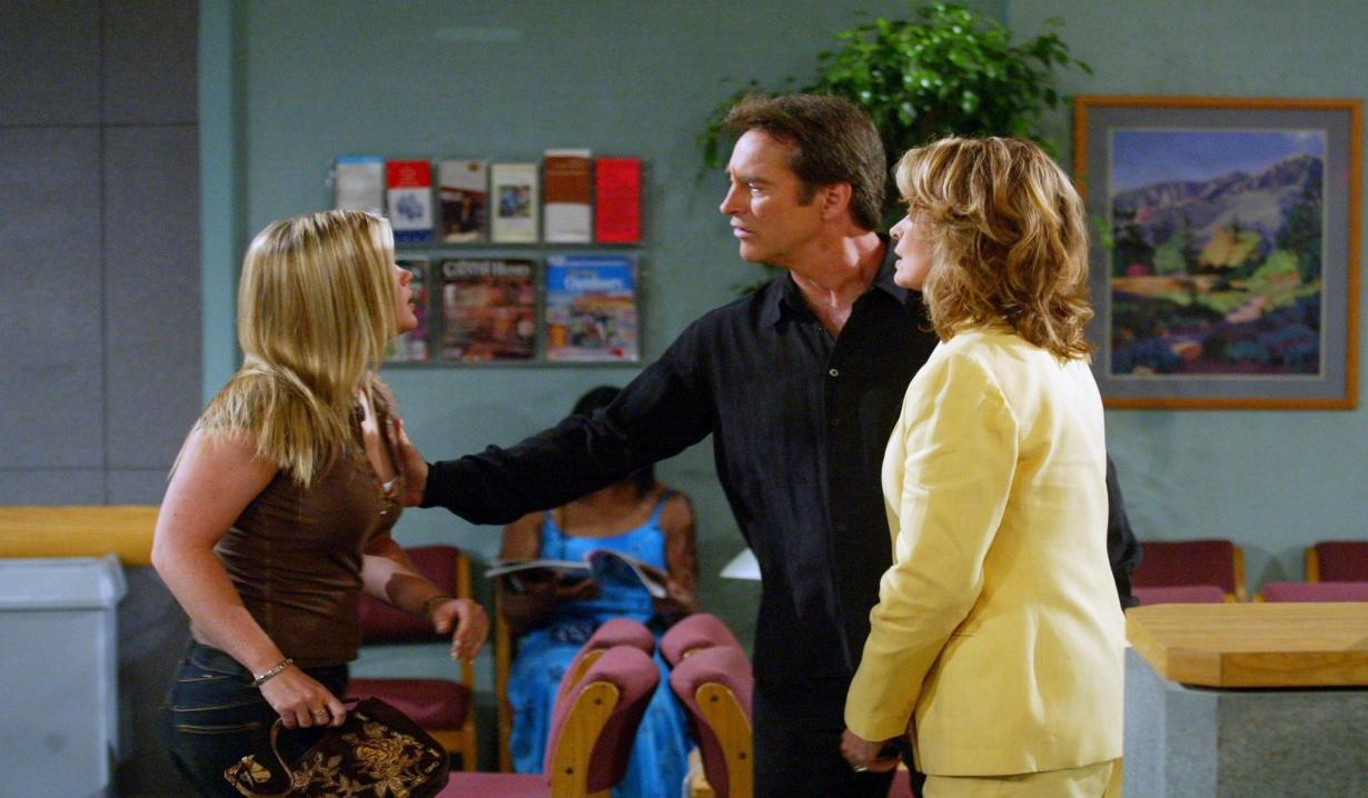 Sami arguing with John and Marlena at hospital