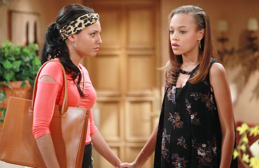 Sasha, Nicole hands B&B