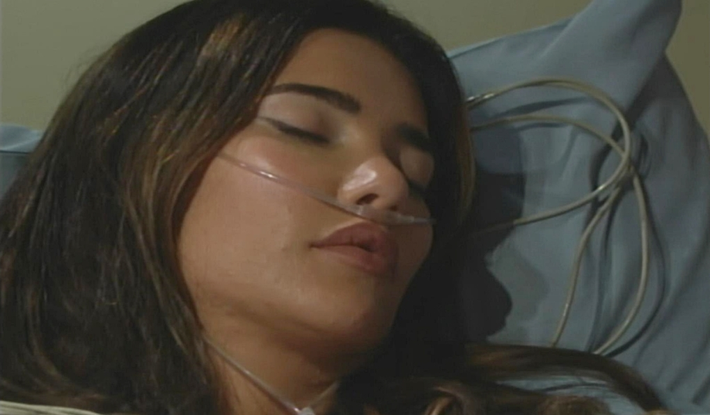 Steffy unconscious hospital B&B