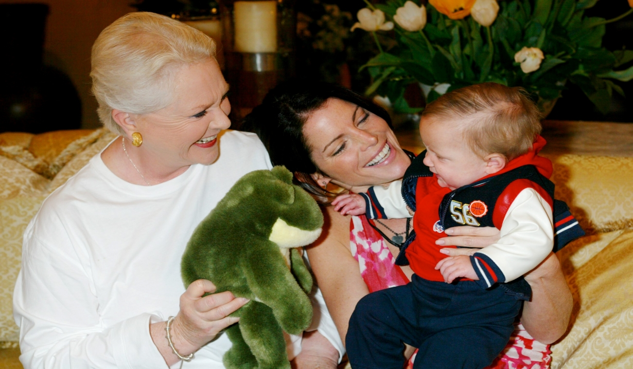 Baby Dominick with Felicia and Stephanie