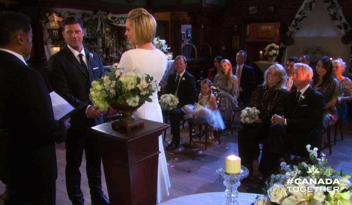 Abe Carver officiates at eric brady's wedding DOOL