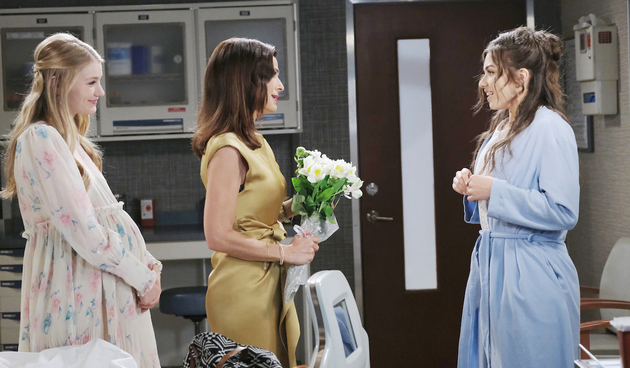 Allie Horton and Hope Brady help Ciara Brady get ready for wedding Days of our Lives