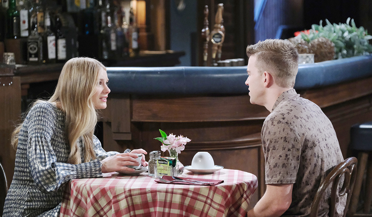 allie and will horton tea at pub days of our lives