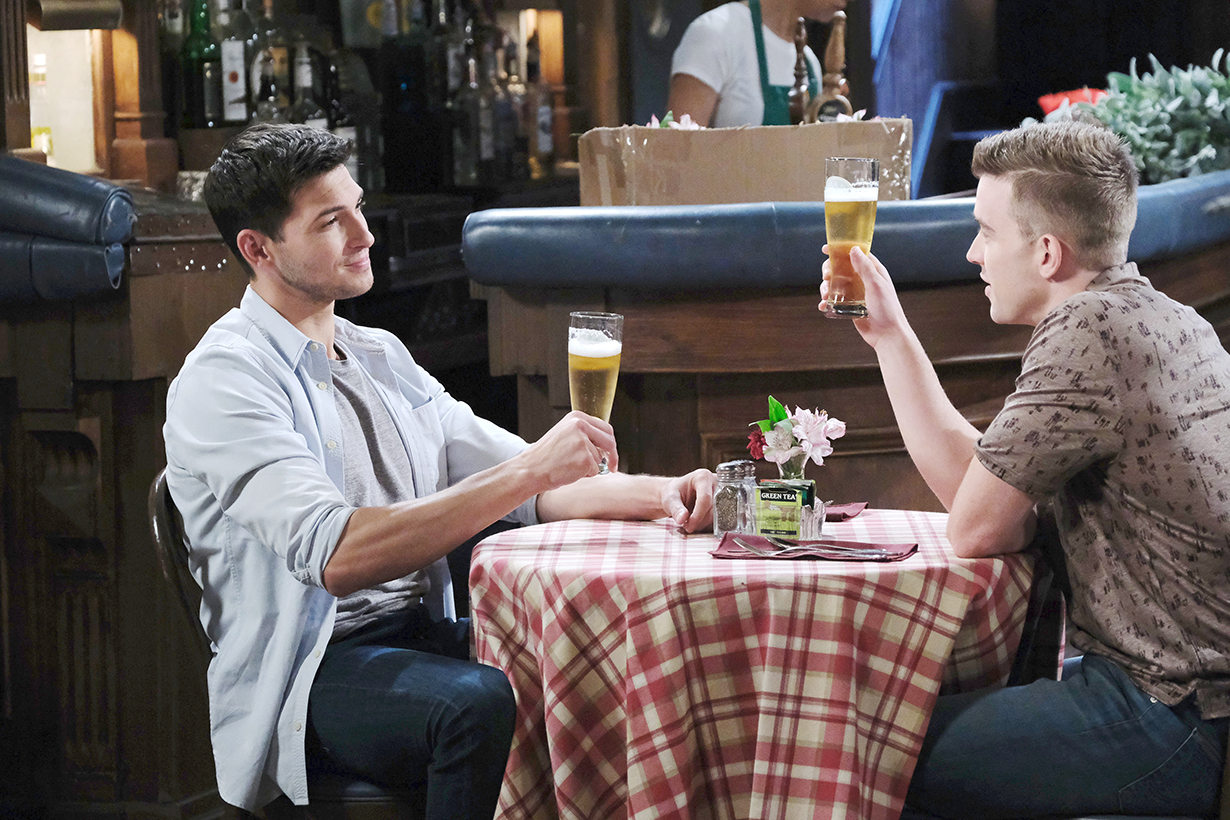 will, ben weston drink to ben marriage days of our lives