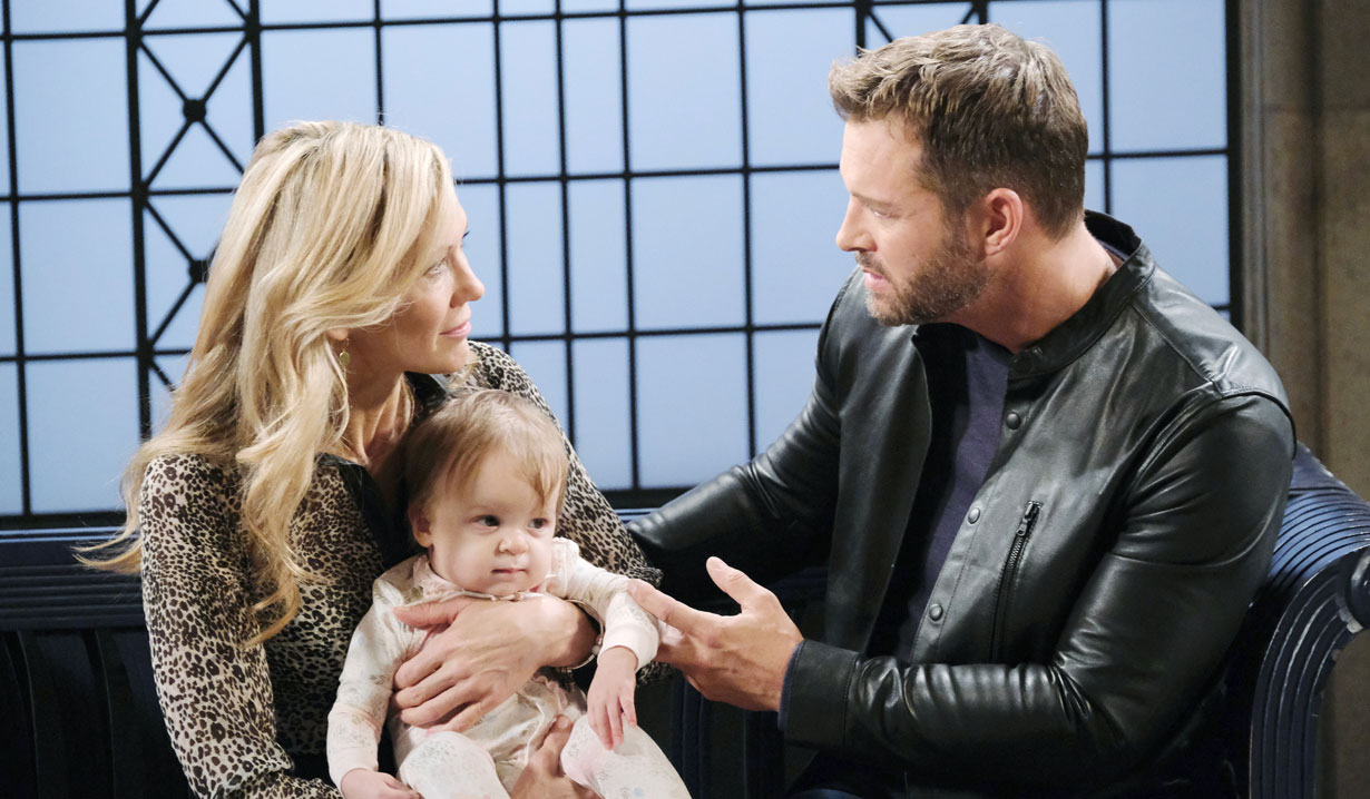Brady, Kristen and daughter Rachel on Days of our Lives
