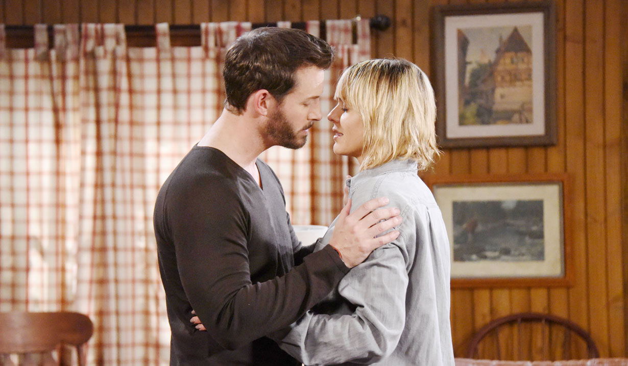 Brady and Nicole Walker hiding at the cabin on Days of our Lives