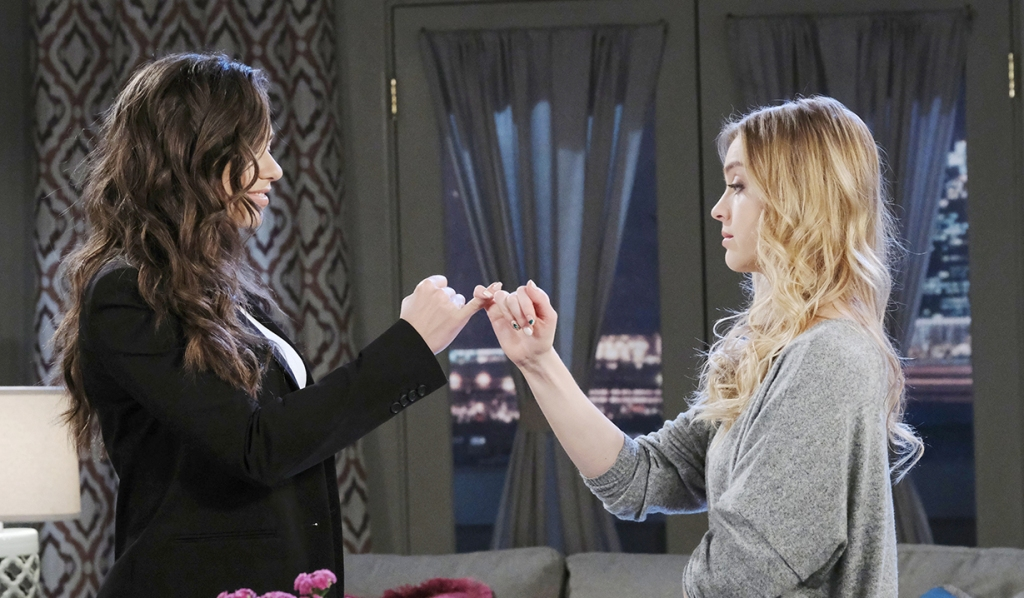 ciara and claire brady pinky swear days of our lives