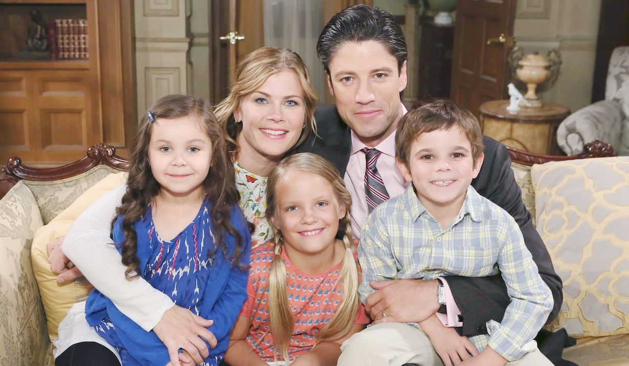 Sami and E.J. with their kids Allie, Johnny, and Sydney on Days of Our Lives