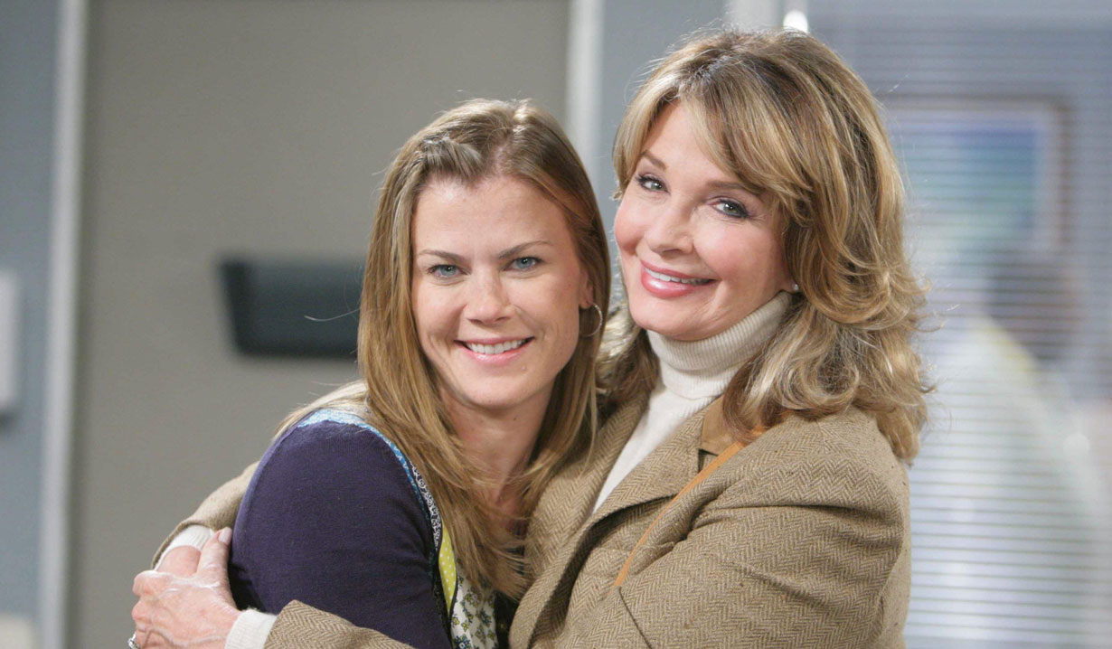 Days of our Lives Deidre Hall and Alison Sweeney on set