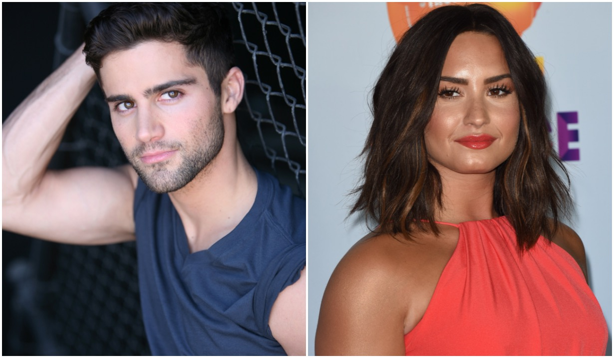 demi lovato max ehrich engagement video