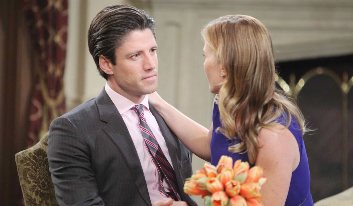 Sami and EJ DiMera at the mansion on Days of our Lives