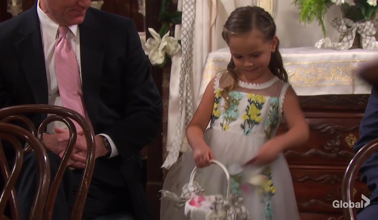 holly walker flower girl ericole wedding dool