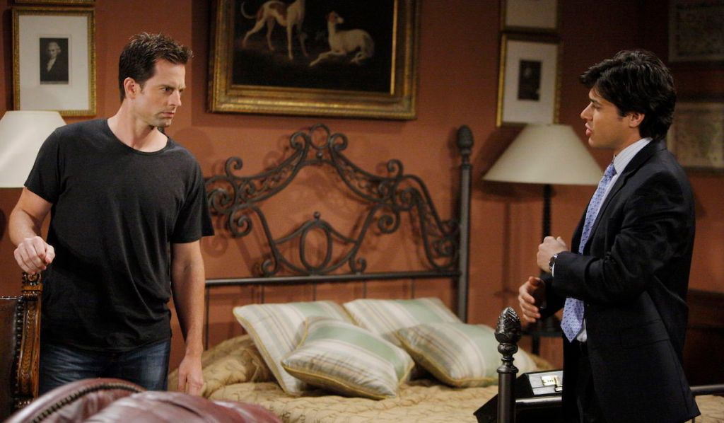 Rafe snoops around Adam's room on Young and Restless