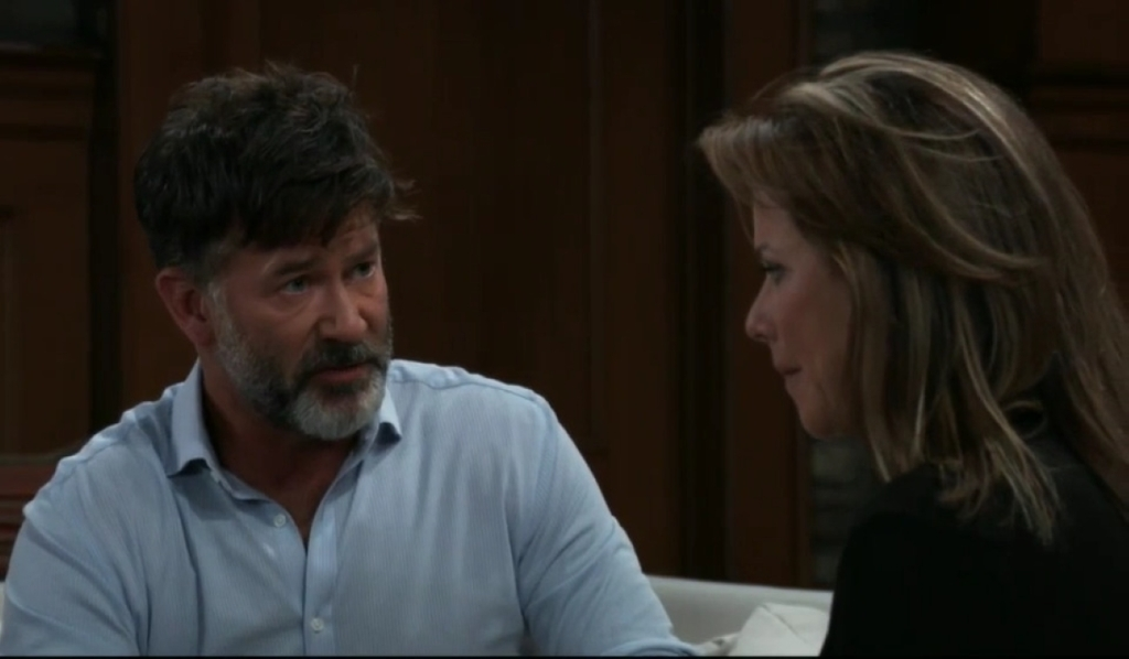 Alexis and Neil discuss their relationship at her place General Hospital