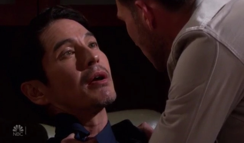 Ben threatens Vincent in Marlena's office Days of our Lives