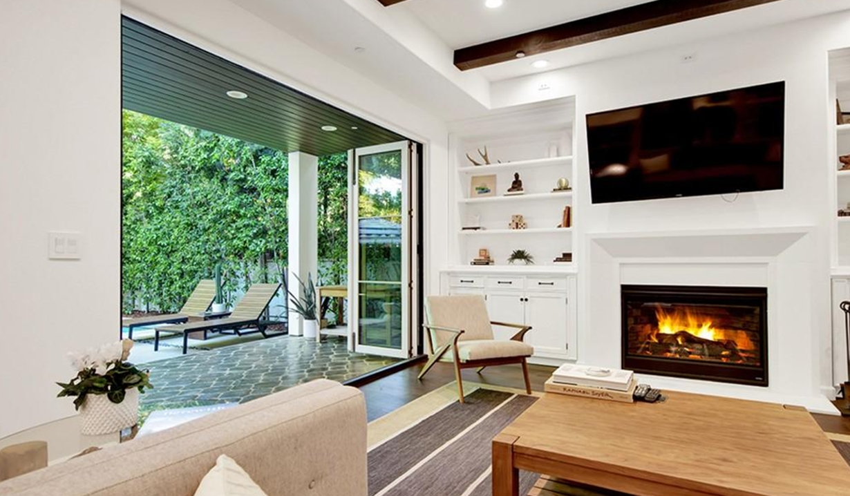 Brittany Snow house family room GL