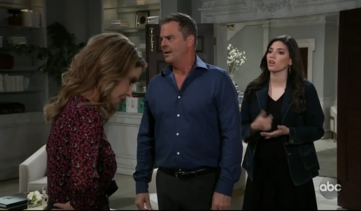 Brook Lynn Ned and Olivia argue about ELQ at Quartermaine house General Hospital