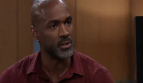 Curtis questions Jordan about Taggert in her office General Hospital