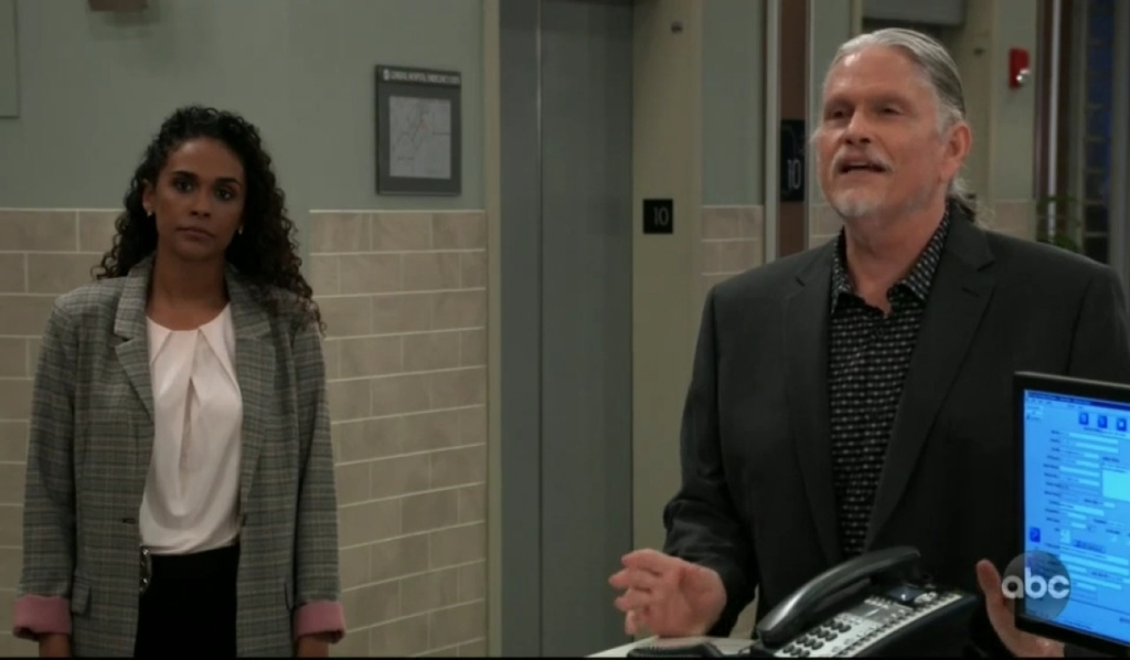 Cyrus and Jordan talk to Monica about the future of General Hospital