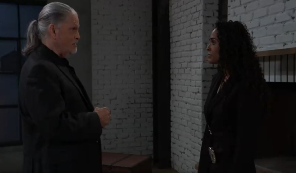 Cyrus gives orders to Jordan at his place General Hospital