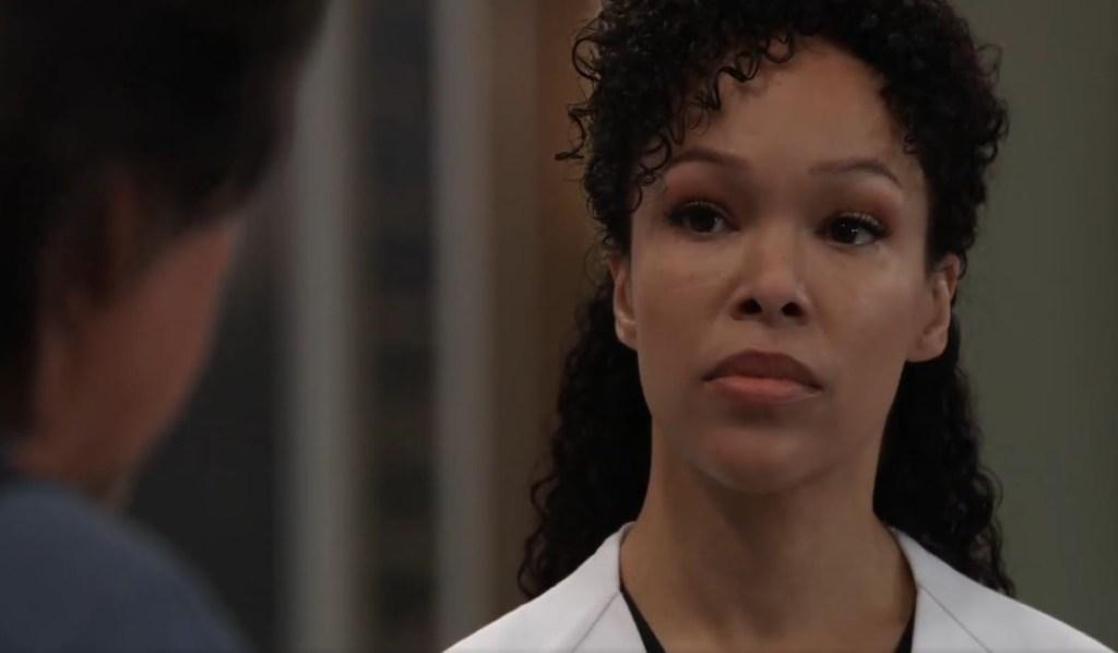 Portia and Finn talk Trina at General Hospital