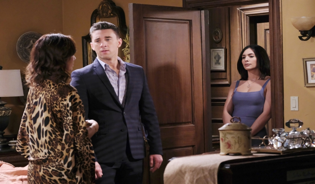 Gabi interrups Gwen and Chad at Casa DiMera Days of our Lives